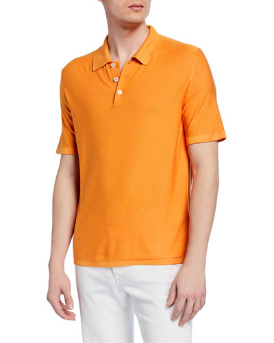 Men's Silk Polo Shirt