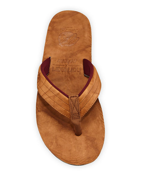 Image 2 of 4: Hari Mari x Nokona Men's Leather Thong Sandals
