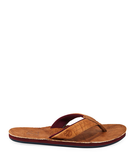 Image 3 of 4: Hari Mari x Nokona Men's Leather Thong Sandals