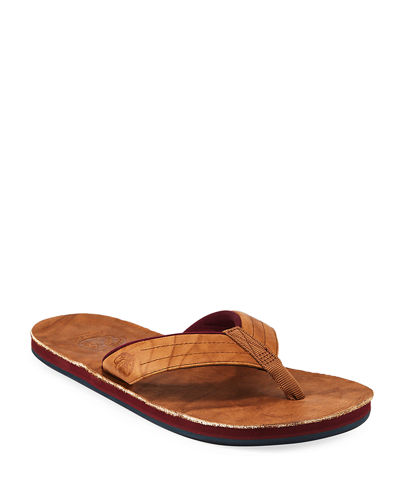 x Nokona Men's Leather Thong Sandals