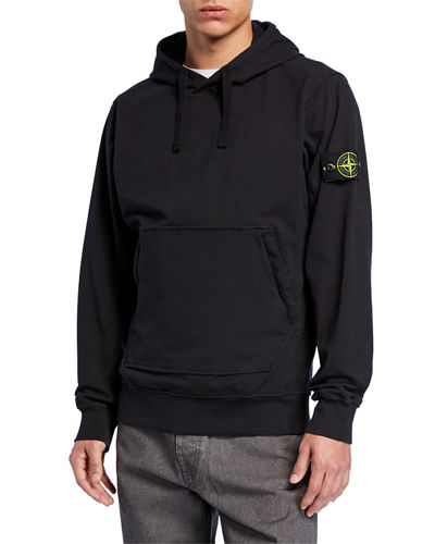 Men's Patch-Applique Pullover Hoodie