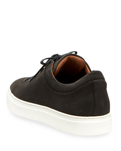 Aquatalia Men's Alaric Suede Low-Top Sneakers