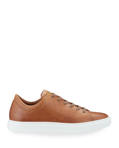 Aquatalia Men's Alaric Leather Low-Top Sneakers
