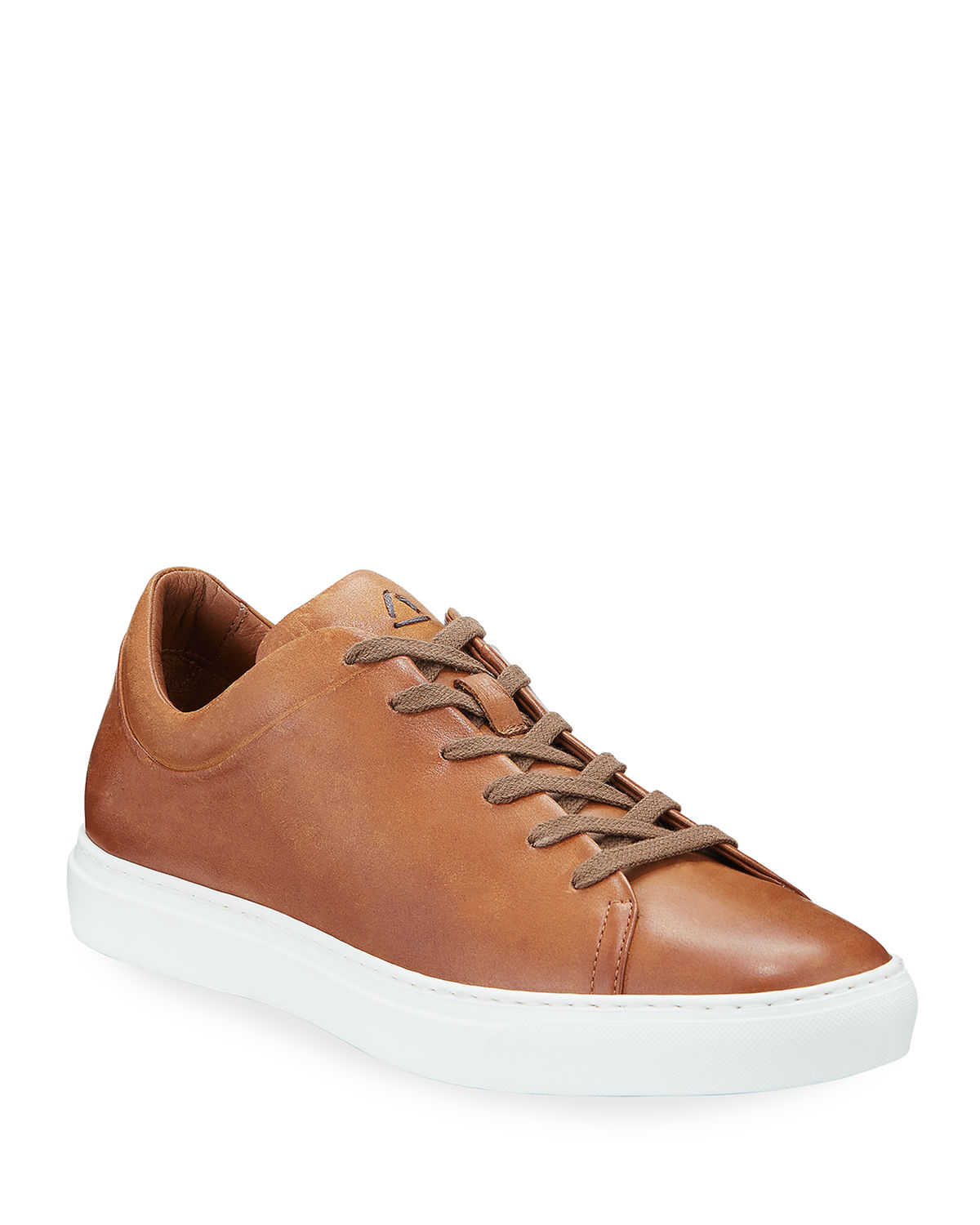 Aquatalia Sneakers MEN'S ALARIC LEATHER LOW-TOP SNEAKERS