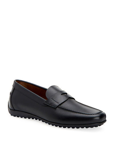 Aquatalia Men's Robby Leather Loafers