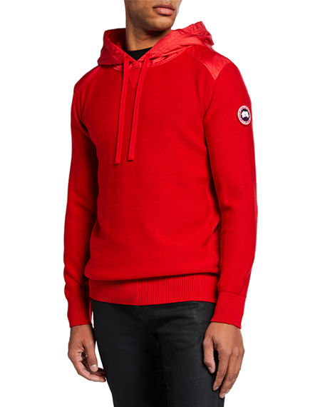 Canada Goose Tops MEN'S ASHCROFT WOOL PULLOVER HOODIE