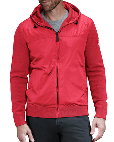 Men's WindBridge Wool & Nylon Hoodie Jacket