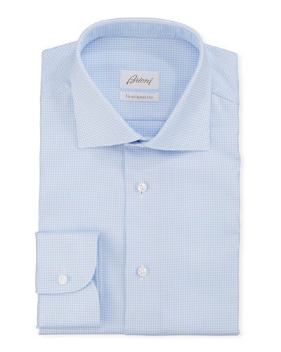 Men's Ventiquattro Check Dress Shirt