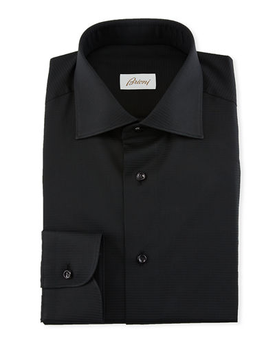 Men's Textured Solid Dress Shirt