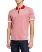Michael Kors Men's Tricolor Jacquard Polo Shirt