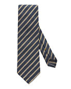 Eton Men's Striped Silk & Cotton Tie