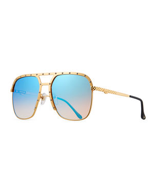 07ba416384 Vintage Frames Company Men s Axel Gold-Plated Aviator Sunglasses. Favorite. Quick  Look