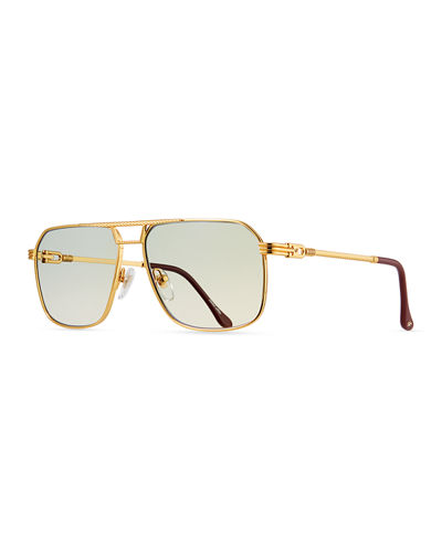 Men's Governor Gold-Plated Aviator Sunglasses
