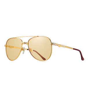0b192805ee6 Vintage Frames Company Men s Gold-Plated Aviator Sunglasses
