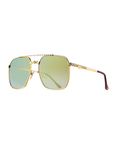 Men's Masterpiece XL Gold-Plated Sunglasses