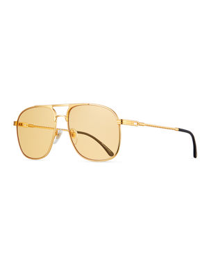 bd04086ee6 Vintage Frames Company Men s Gold-Plated Aviator Sunglasses. Favorite. Quick  Look