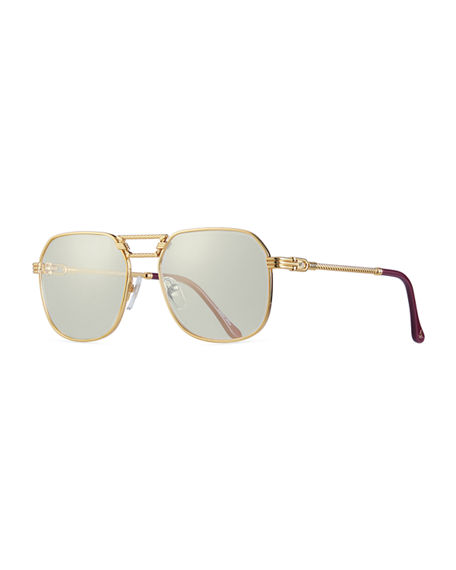 Vintage Frames Company Men's CEO Gold-Plated Aviator Sunglasses