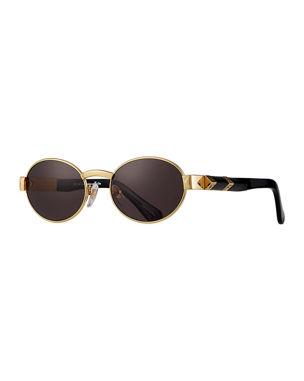 95386129f9 Vintage Frames Company Men s The Biz Gold-Plated Oval Sunglasses. Favorite. Quick  Look
