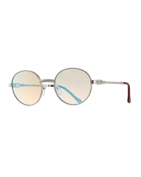 Vintage Frames Company Men's VF 508 Gold-Plated Round Sunglasses