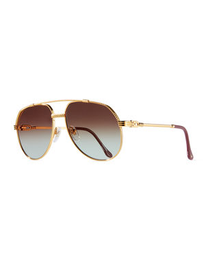 7cd6b4f443c Vintage Frames Company Men s Hunter Masterpiece Gold-Plated Aviator  Sunglasses