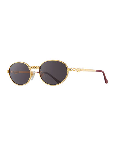 623f2eda91a Quick Look. Vintage Frames Company · Men s Pac Masterpiece Gold-Plated Oval  Sunglasses