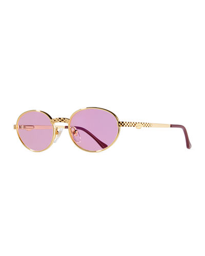 Men's Pac Masterpiece Gold-Plated Oval Sunglasses