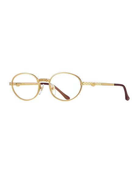 Vintage Frames Company Men's Pac Masterpiece Gold-Plated Oval Sunglasses