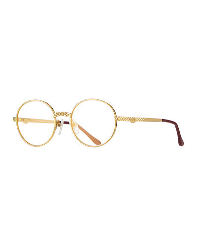 fc4db63f2380 Quick Look. Vintage Frames Company · Men s Circle Masterpiece Gold-Plated  Round Sunglasses