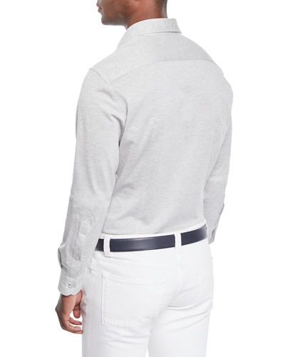 Loro Piana Woven Cotton Oxford Sport Shirt