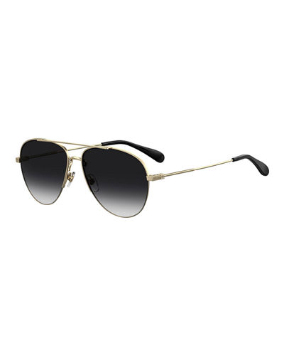 Men's Thin Metal Aviator Sunglasses