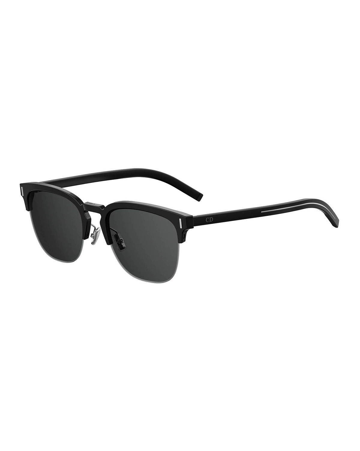 Dior Sunglasses Men's Fraction 6 Half-Rim Sunglasses