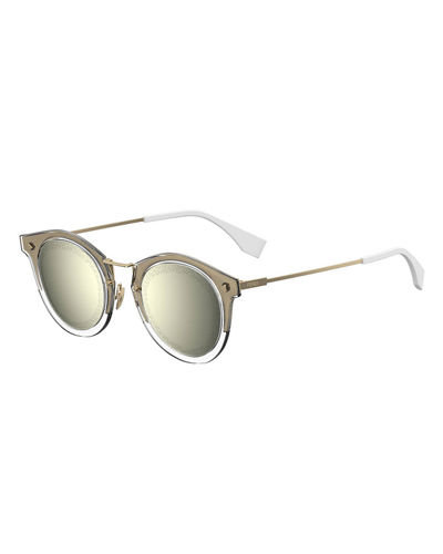 Men's Round Plastic Sunglasses