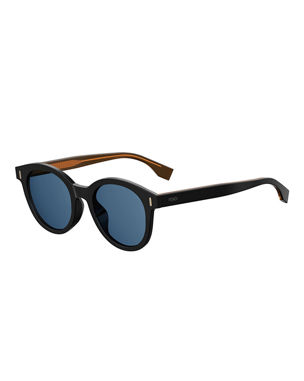 7be2b42a2a18 Fendi Men s Round Tortoiseshell Sunglasses