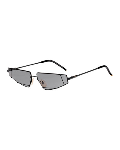 Men's Metal Asymmetric Sunglasses