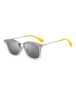 affa89372903 Fendi Men s Square Translucent Plastic Sunglasses