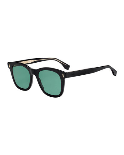 Men's Square Plastic Sunglasses