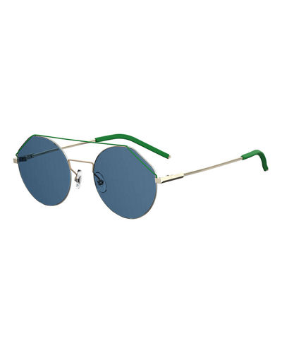 Men's Rimless Round Aviator Sunglasses