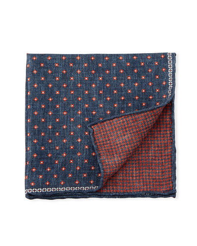 Reversible Dot/Houndstooth Pocket Square