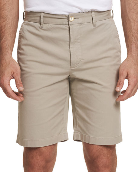 Robert Graham Shorts MEN'S ALDRICH STRETCH-TWILL FLAT-FRONT SHORTS