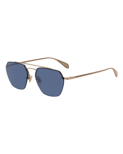 Men's Half-Rim Navigator Sunglasses
