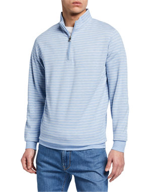 308d23ae9c Peter Millar Men s Halifax Stripe Quarter-Zip Sweater