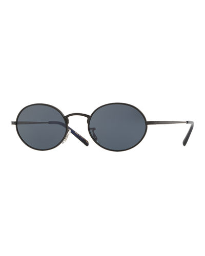 Oliver Peoples The Row Men's Empire Suite Monochromatic Oval Sunglasses