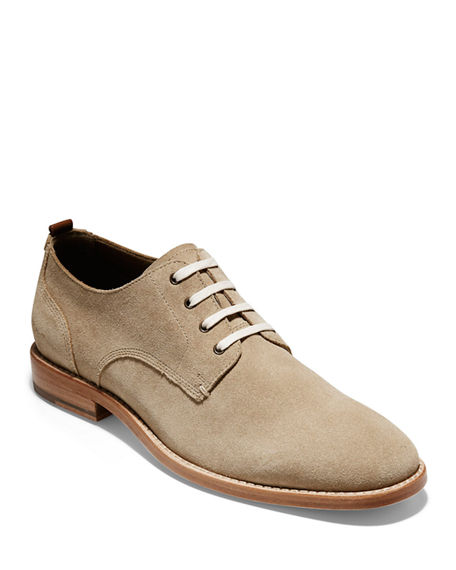 Cole Haan Oxfords MEN'S FEATHERCRAFT SUEDE OXFORD SHOES
