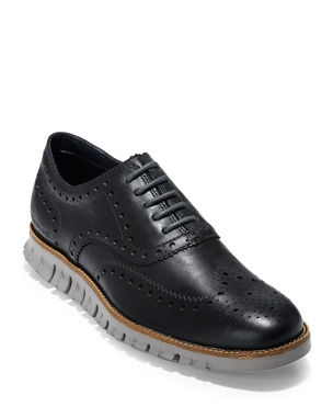 9c0e0775d92e Cole Haan Men s ZeroGrand Leather Wing-Tip Oxfords