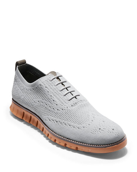 Cole Haan Oxfords MEN'S ZEROGRAND KNIT WING-TIP OXFORDS