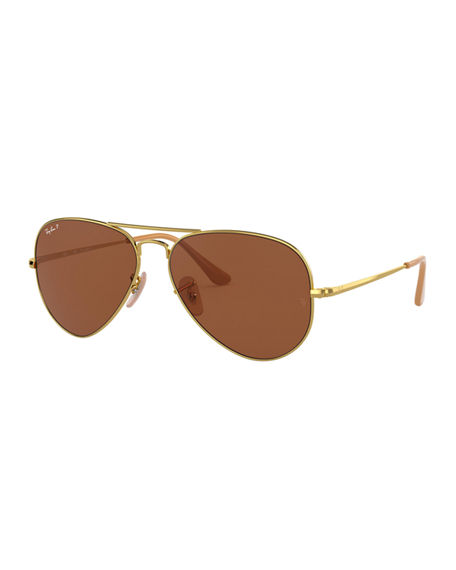 Ray-Ban Men's Evolve Polarized Metal Aviator Sunglasses