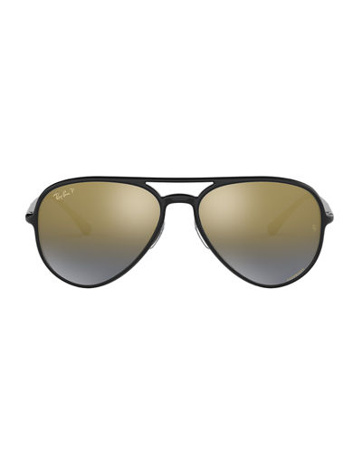 Ray-Ban Men's Chromance Mirrored Propionate Aviator Sunglasses