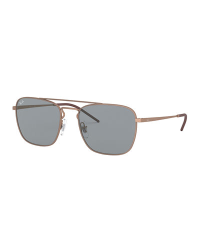 Men's Square Aviator Sunglasses - Solid