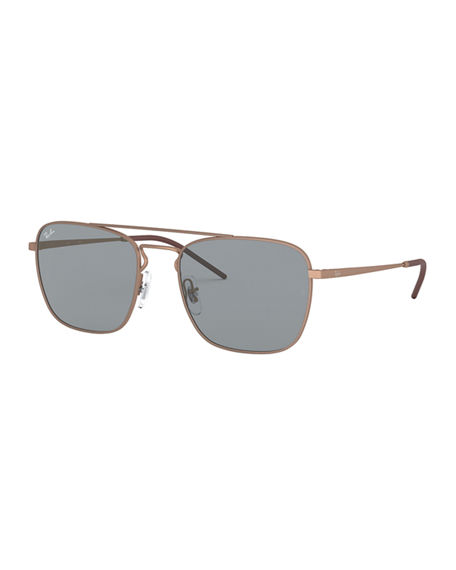 Ray-Ban Men's Square Aviator Sunglasses - Solid