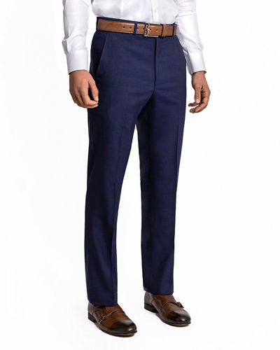 Men's Solid Twill Dress Pants